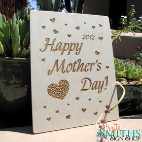 Happy Mother's Day Keepsake Personalized Wood Sign