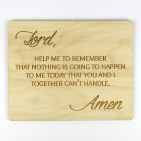 """You and I Together"" Inspirational Wood Sign"