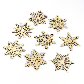 2014 Collection - Set of 8 Birch Wood Snowflakes