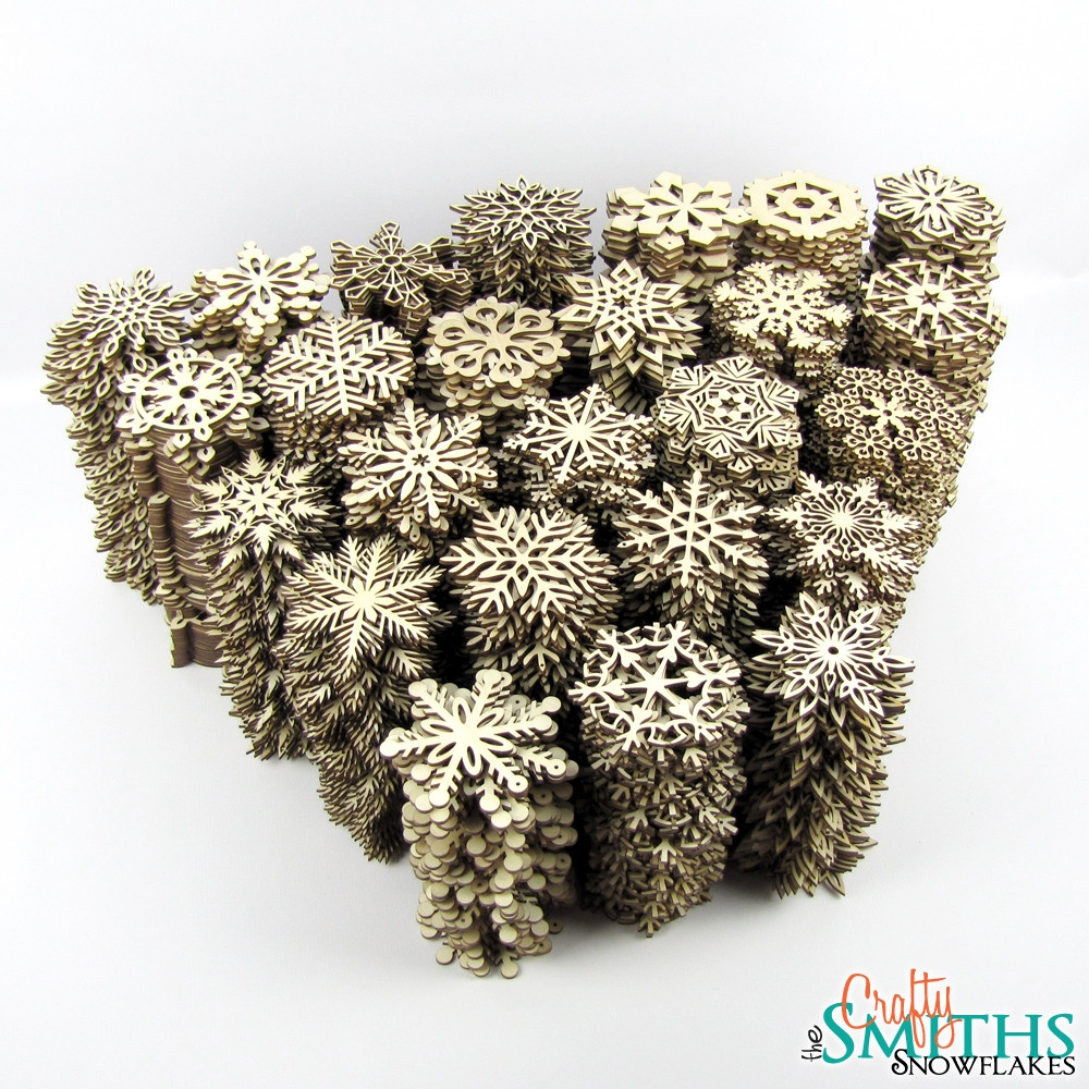 Bulk 5 Inch Wood Snowflakes - The Crafty Smiths
