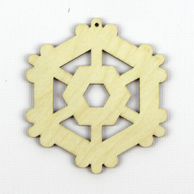 """Gear"" Wood Snowflake"