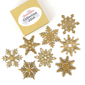 2014 Special Edition Bamboo Wood Snowflakes