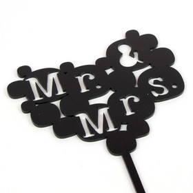 Mr & Mrs Cake Topper - Bubbles