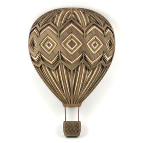"""Diamond Hot Air Balloon"" - 3D Layered Wood Art - Version A"