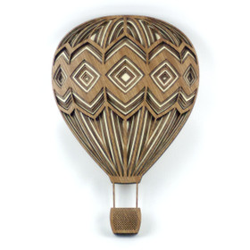 """Diamond Hot Air Balloon"" - 3D Layered Wood Art - Version B"