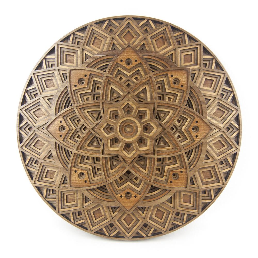 Quot Lotus Mandala Quot 3d Layered Wood Art Version C The