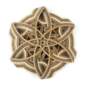 """The Pinwheel"" - 3D Layered Wood Art - Version A"