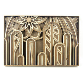 """The Cathedral"" - 3D Layered Wood Art - Version A"