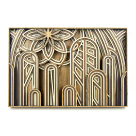 """The Cathedral"" - 3D Layered Wood Art - Version C"