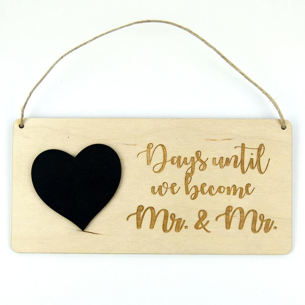 Chalkboard Wedding Countdown Calendar