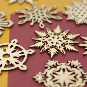 """Fireside Collection"" Snowflakes Only"