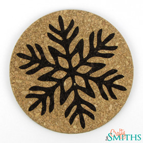 """Christmas Morning"" Snowflake Cork Coasters or Trivet"
