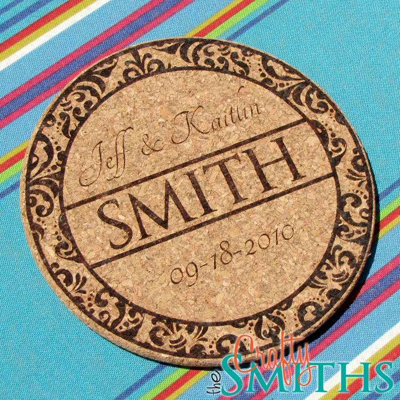 Personalized Damask Cork Trivet Or Coasters The Crafty