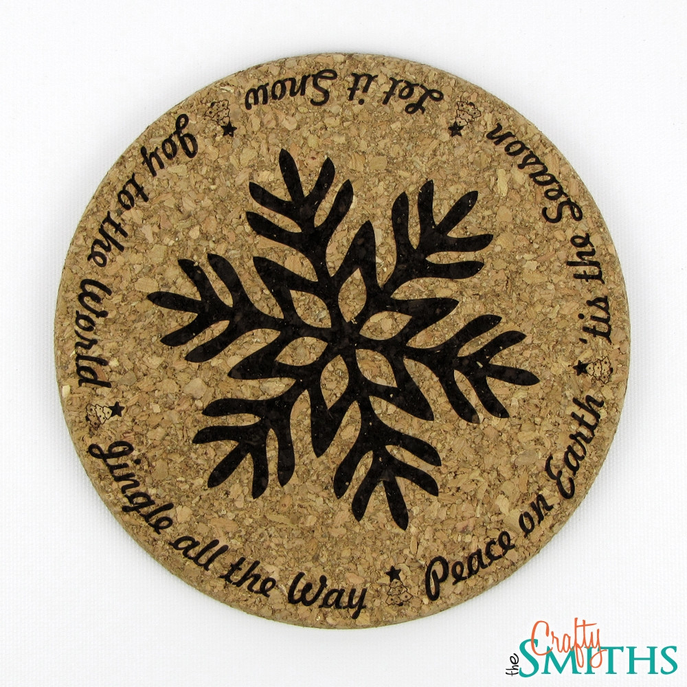 Quot Christmas Sayings Quot Cork Coasters Or Trivet The Crafty
