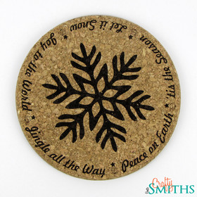 """Christmas Sayings"" Cork Coasters or Trivet"