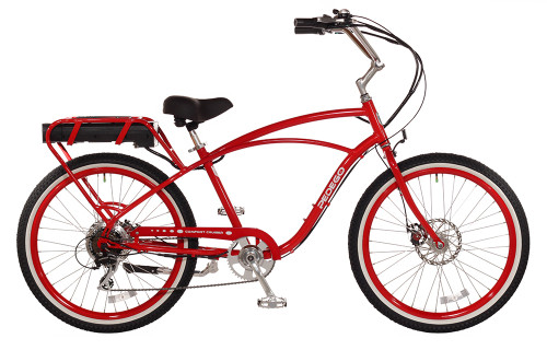 Pedego Classic Comfort Cruiser - Red with Standard White Wall Wheels