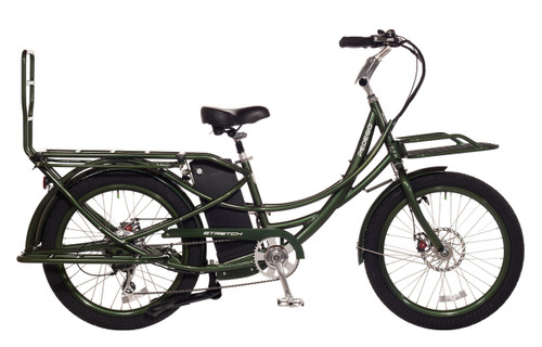 Pedego Stretch Electric Cargo Bicycle - Olive Green frame