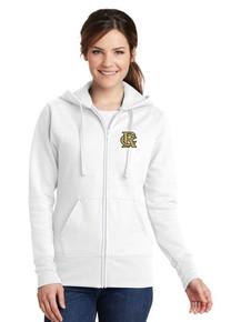 Ladies Fleece Full Zip Sweatshirt w/RC Baseball Embroidery