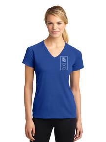 Ladies Performance V-Neck T-shirt - Highlands Ranch Golf
