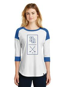 Ladies 3/4 Sleeve Baseball T-Shirt - HRHS Golf