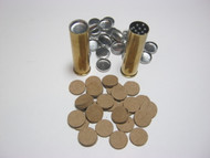 Vegetable and metal wad shotshell kit.