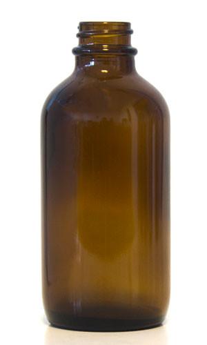 120ML Amber Glass Boston Round - Round Bead
