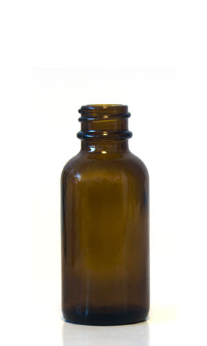 30ML (1oz) Amber Boston Round Bottles With No Closure