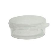 10 Gram Clear Round Hinged Plastic Jar