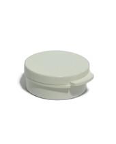 10 Gram White Round Hinged Jar