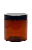 4oz (120ml) Amber Straight Sided PET Jar with Black Cap