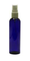 240 ml (8oz.) Blue PET Plastic Bullet Bottle with White Sprayer