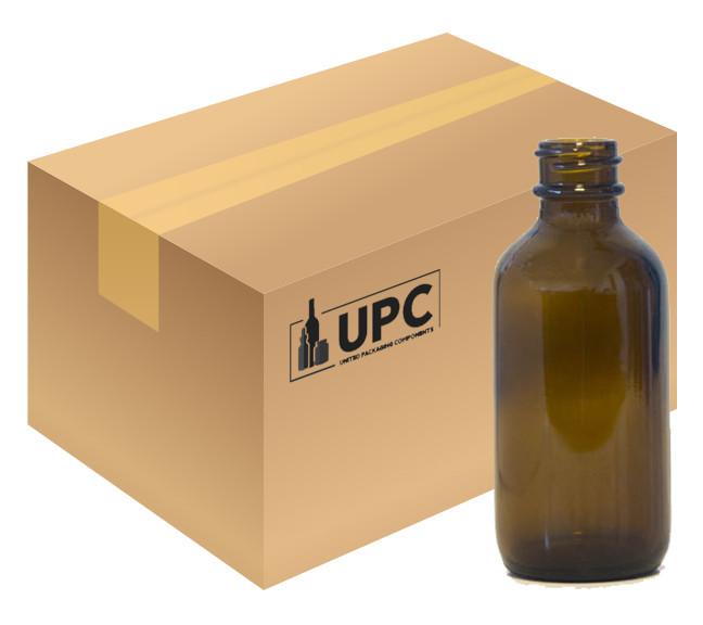 c5597013d4ae 60 ML (2 oz) Amber Boston Round Bottle - Case of 240