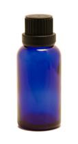 30ML (1oz.) Blue Glass Essential Oil Euro Bottle with Heavy Duty Tamper Evident Cap & Orifice Reducer
