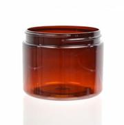 8 oz (240 ml) Amber Straight Sided PET Jar