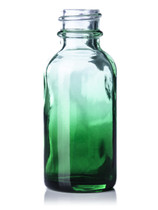 30ML (1oz) GREEN SHADED CLEAR Boston Round Bottles