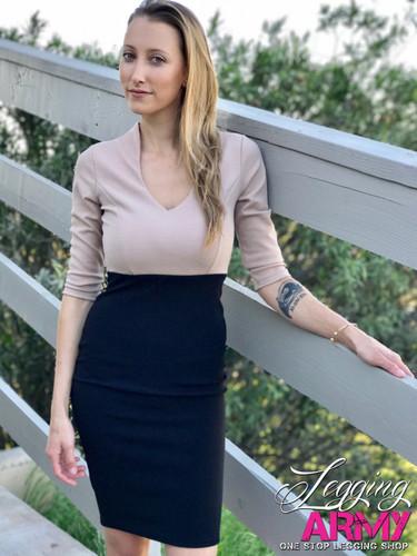 Pencil Dress- Miss Independent Khaki