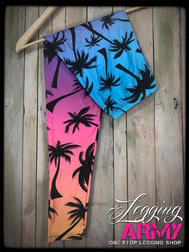 Plus Size Sublimation- Sunset Palms