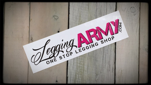 Legging Army Stickers  7'' x 2'' Vinyl High Gloss Stickers