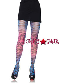 7279, Rainbow Zebra Tights
