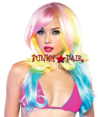 A2684, Carousel Pastel Rainbow Wig