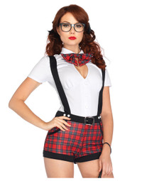 M0013, School Girl with Jacket costume includes a jacket, bra, neckpiece and skirt