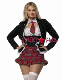 M1341W, Plus Size School Girl with Jacet