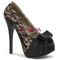 Teeze-28, Peep Toe Pump with Bow Detail