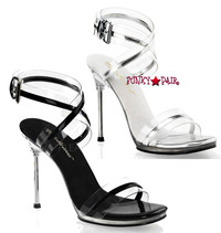 Chic-05, 4.5 Inch High Heel with 1/4 Inch Platform Wrap Round Ankle Strap Sandal Made