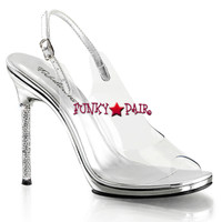 Chic-18, Peep Toe Sling Back Sandal Made By PLEASER Shoes