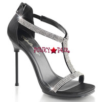 Chic-21, Closed Back T-Strap Sandal Made By PLEASER Shoes