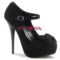 Gorgeous-35, 5.25 inch heel with 1.25 inch platform Pump with Bow