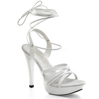 Cocktail-512, White Strappy Ankle Wrap Sandal
