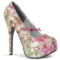 Teeze-06-6, Flower Fabric Pump **NEW ARRIVAL**