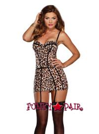 DG-8641 * Leopard Print Garter Dress